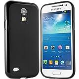 Samsung Galaxy S4 Mini Hülle - Schutzhülle Silikonhülle Case Cover Tasche für Samsung S4 Mini (Schwarz)