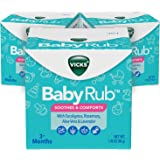 Vicks BabyRub Chest Rub Ointment with Soothing Aloe, Eucalyptus, Lavender, and Rosemary, from the makers of VapoRub, 1…