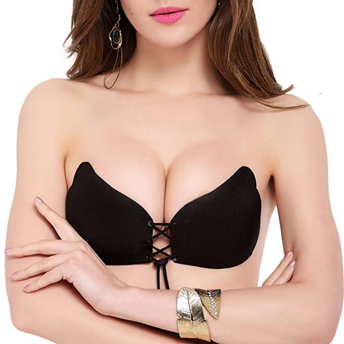 6fca8cc864 Invisible Sticky Bra Strapless Self Adhesive Brassiere With Drawstring For  WomenTRUE A