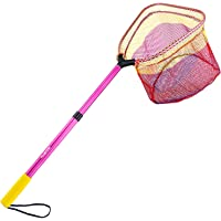 PLUSINNO Kids Fishing Net, Telescopic Lightweight Landing Net with Aluminum Pole Handle and Nylon Mesh, Catch and…