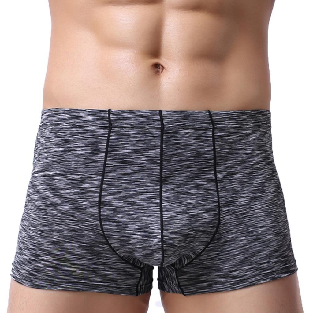 Ropa Interior de Hombres 💋💖 Yesmile Sexy Calzoncillos de Spandex Cuatro Esquinas de Verano Boxers Nuevo Helado Bragas Transpirable de Cintura Baja (M, ...