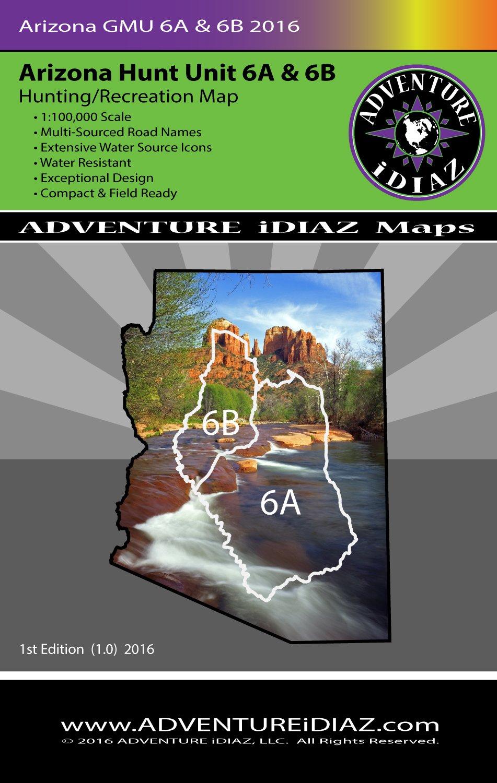 Unit 6a Arizona Map.Arizona Hunt Unit 6a And 6b Map Exceptional Design And Readability