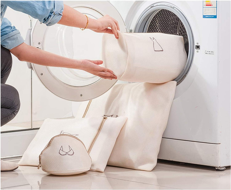 Bolsa de Lavanderia Bolsas para la Colada Lavadora Bolsa Durable Reutilizable Malla de Algod/ón con Cremallera para Lavander/ía Delicada Blusa Ropa Calcetines Ropa Interior