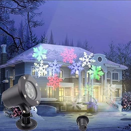 Galapara Proyector LED de Copos de Nieve, proyector de Navidad ...