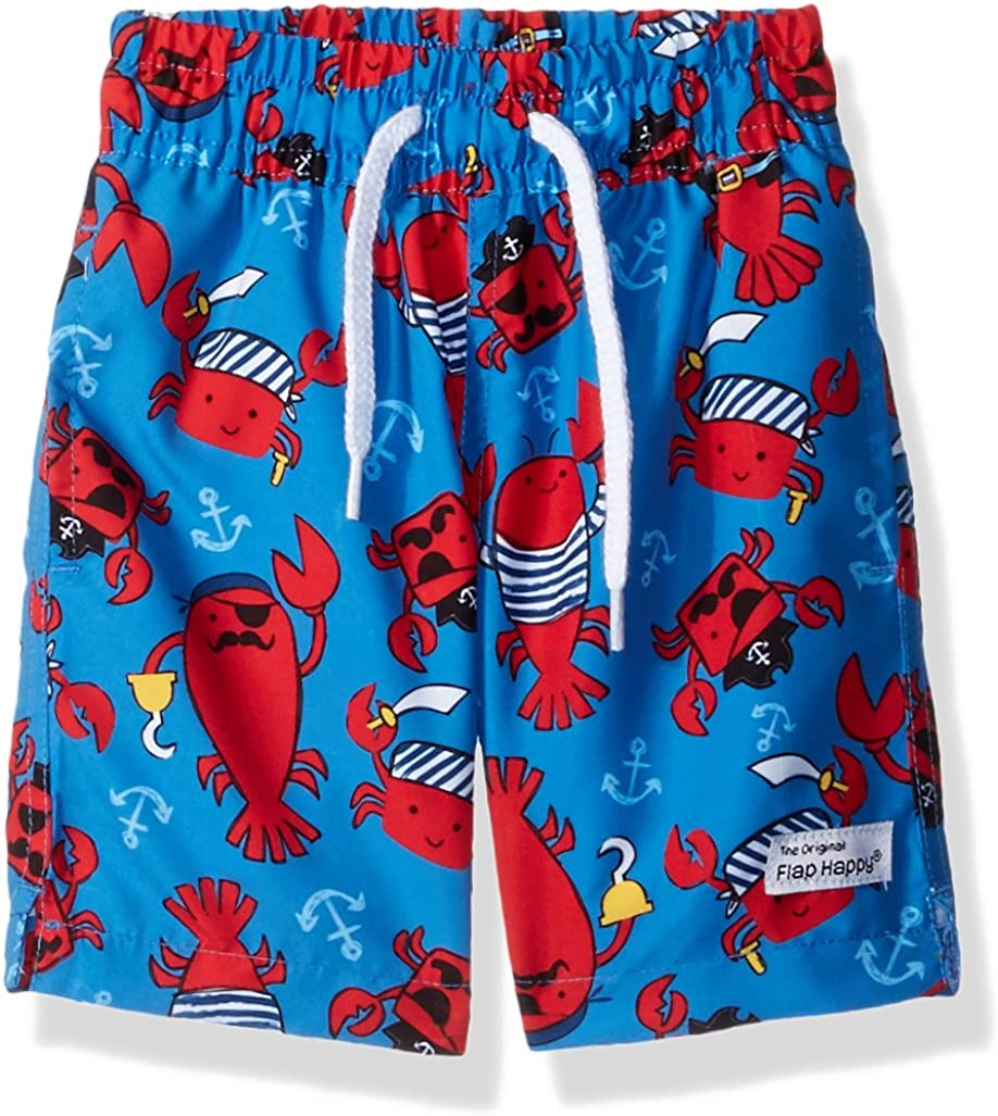 Fish Frenzy JSK7AZ Flap Happy UPF 50 Swim Trunks w//Mesh Liner