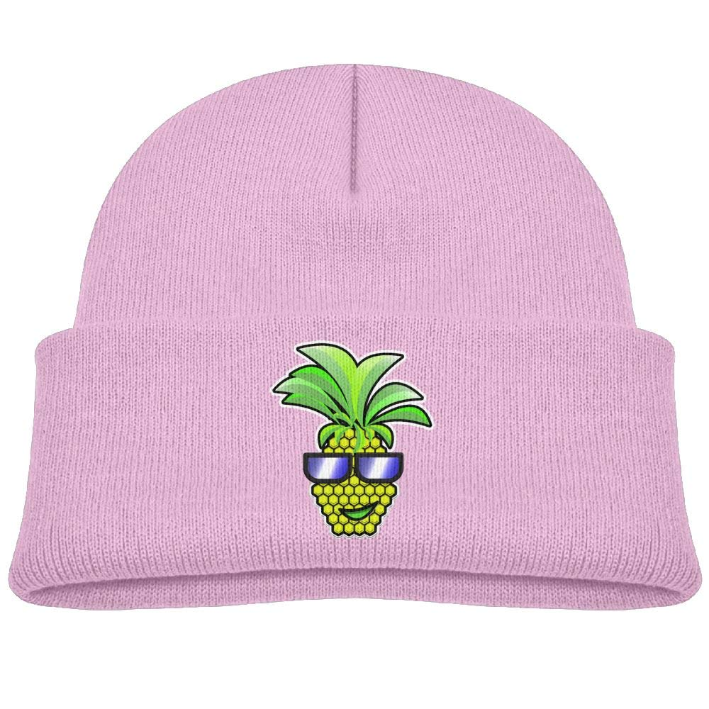 5cc997f7f30 Amazon.com  cqelng oii Cool Pineapple Sunglasses Trendy Boy Knit Hat Soft  Skull Beanie Cap Baby  Clothing