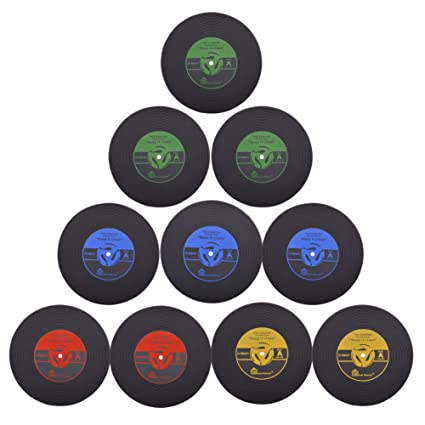 Coasters for Drinks Set of 10 Vintage Vinyl Record Retro Mats Soft Rubber Cup  sc 1 st  Amazon.com & Amazon.com | Coasters for Drinks Set of 10 Vintage Vinyl Record ...