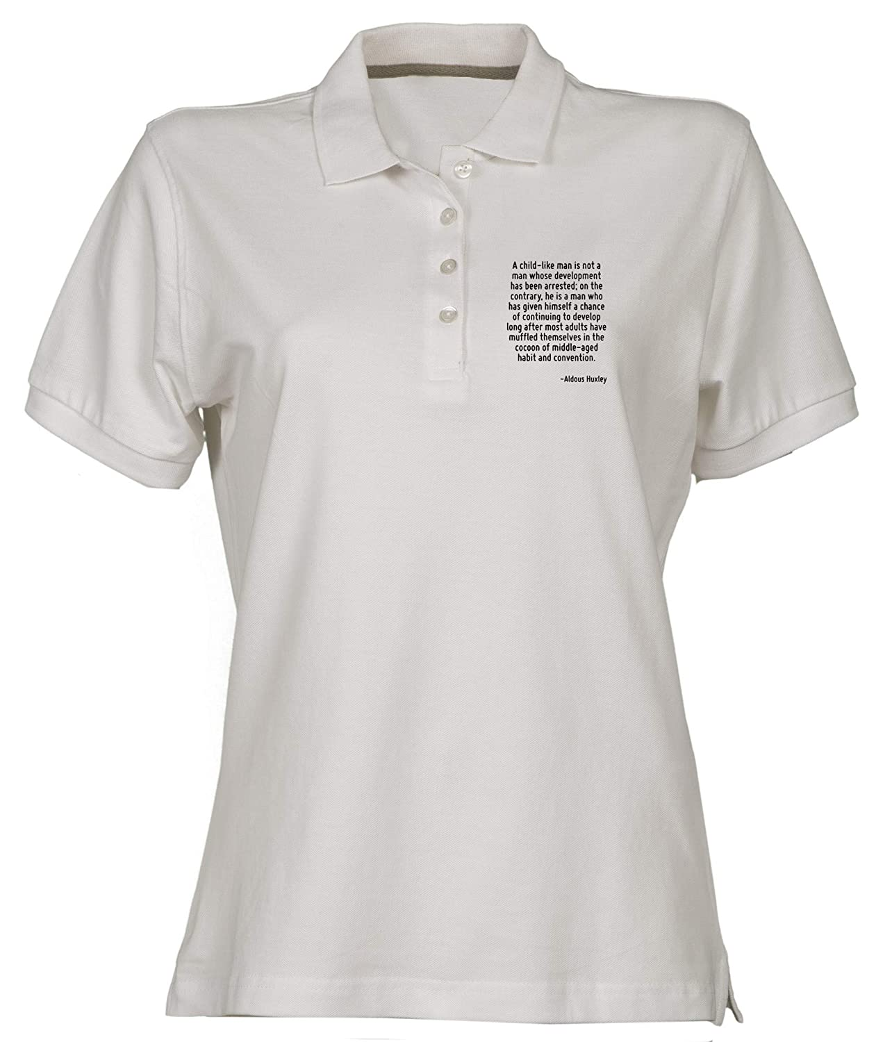 Polo para Mujer Blanco CIT0003 A Child Like Man IS Not A Man Whose ...