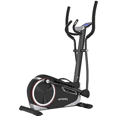 Sportplus SP-et-9600-Ie Vélo Elliptique Mixte Adulte, Noir, Taille Unique