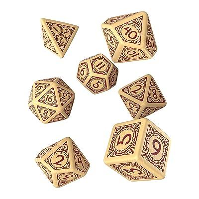 Q-Workshop Viking Beige & Burgundy Dice Set (7): Toys & Games [5Bkhe1105617]