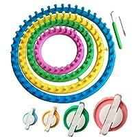Métier à tricoter rond Tmade - Outil à crochet - 4 ronds pour faire des pompons