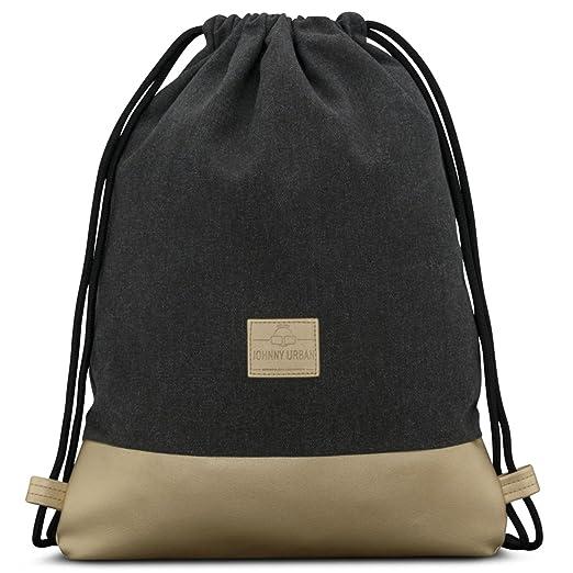 Johnny Urban Drawstring Bag Anthracite/Gold Gymsack Gym Sack Men & Women