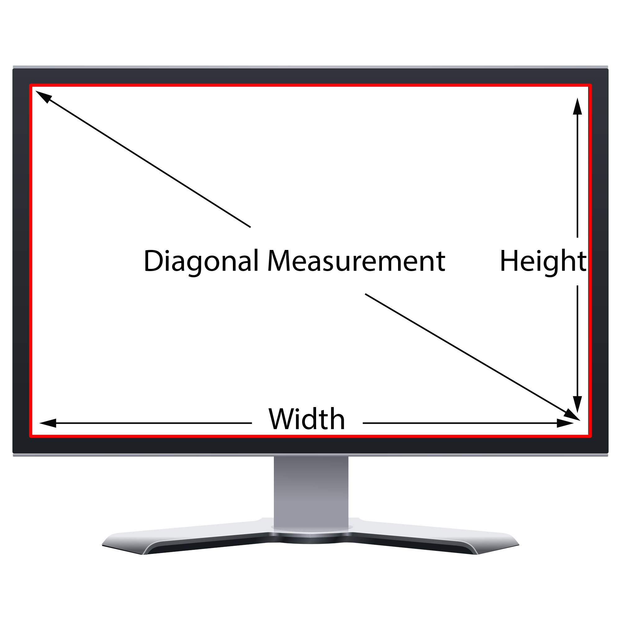 Privacy Screen Filter and Anti Glare for 24 Inches Desktop Computer Widescreen Monitor with Aspect Ratio 16:09 Please Check Dimension Carefully by WS Vendor