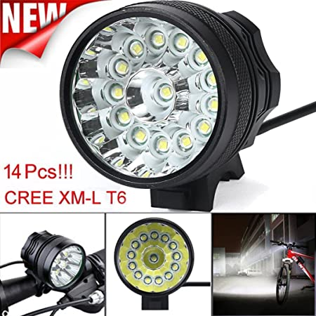 20000LM XM-L2 LED Head Lamp Front Bike Bicycle Light Headlight USB Rechargeable