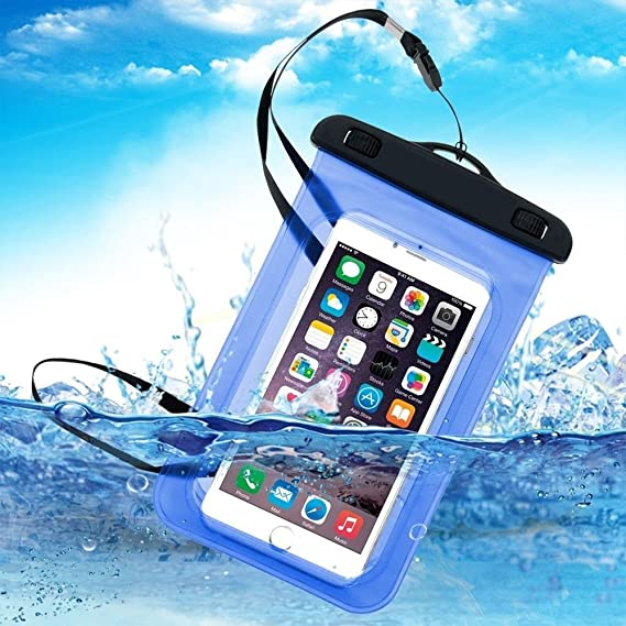 best loved e98db 76318 AICase Waterproof Phone Bag, Universal Cellphone Dry case Pouch with Float  Function for Apple iPhone X,8,8 Plus,7,7 Plus, Samsung Galaxy S9, S9 ...