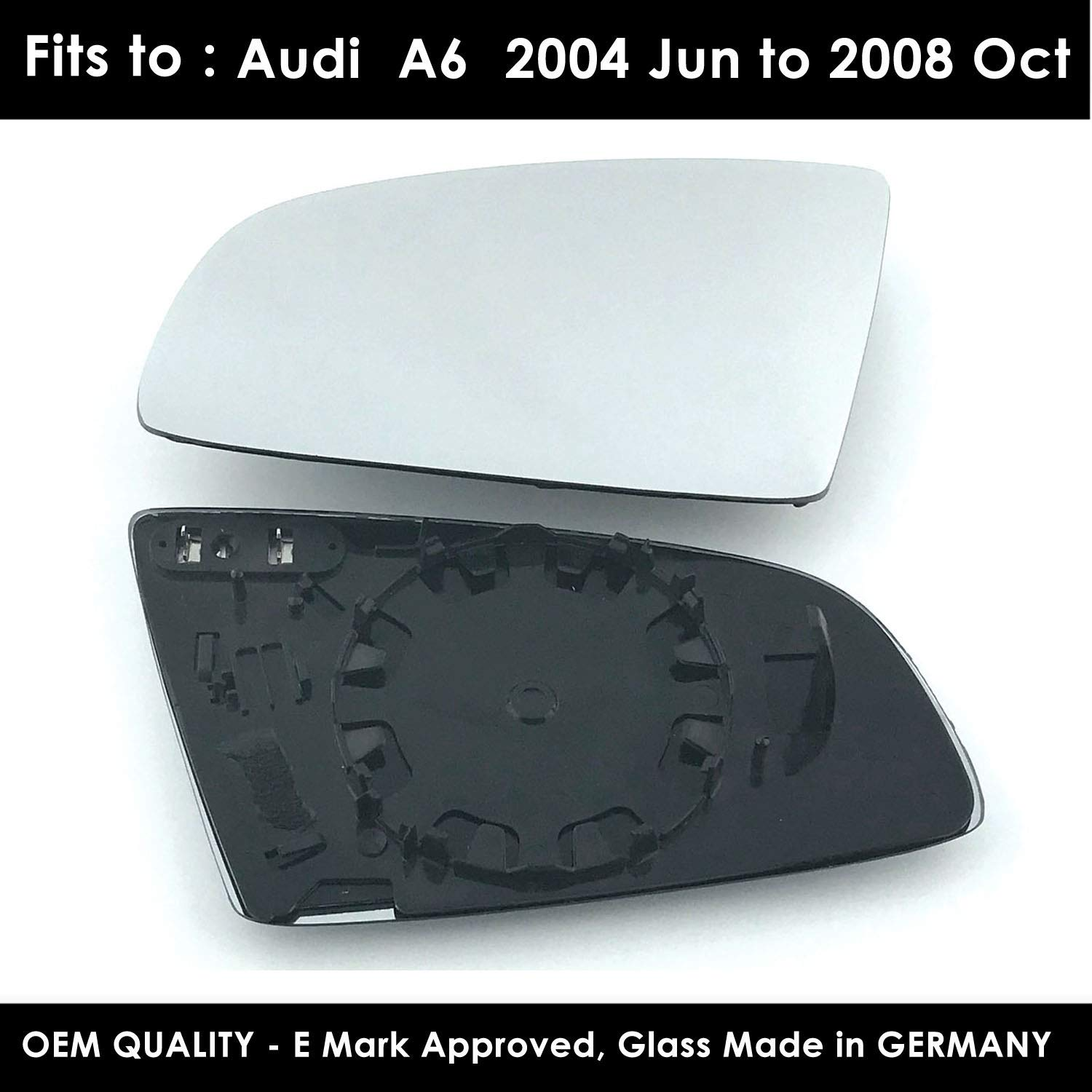 Convex 2004 Jun to 2008 Oct A6 LEFT SIDE Wing Mirror Glass With Base Heated