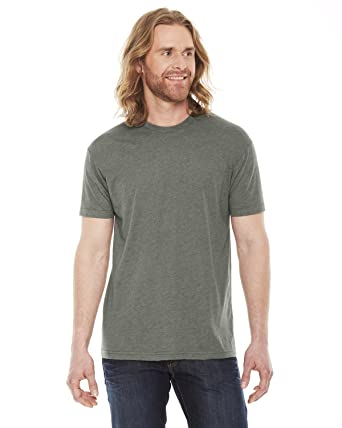 6e693c2a8f4 American Apparel Youth Poly-Cotton Short-Sleeve Crewneck (BB401) -HEATHER LI