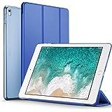 ESR iPad 10.5インチ 2017 ケース 超軽量 極薄 半透明 レザー 三つ折スタンド オートスリープ機能 スマートカバー 新しいApple iPad 10.5インチ 2017最新版専用 全6色 (ネイビーブルー)