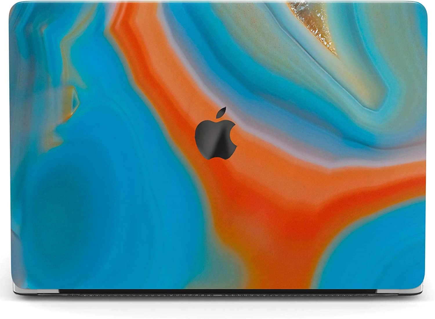 Wonder Wild Case For MacBook Air 13 inch Pro 15 2019 2018 Retina 12 11 Apple Hard Mac Protective Cover Touch Bar 2017 2016 2020 Plastic Laptop Print Abstract Agate Drawing Watercolor Minimal Oil Stone