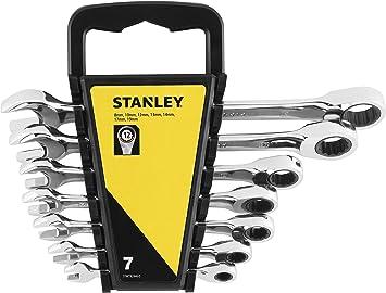 gris STANLEY STMT82846-0 Juego de 7 Llaves de trinquete