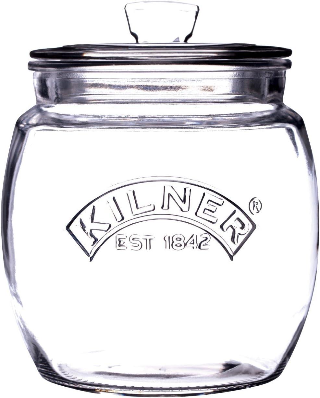 Kilner Glassware Universal Storage Jar Durable Multi-Purpose Glass Container with Airtight Push-top Lid, 28-3/4-Fluid Ounces, 1 EA