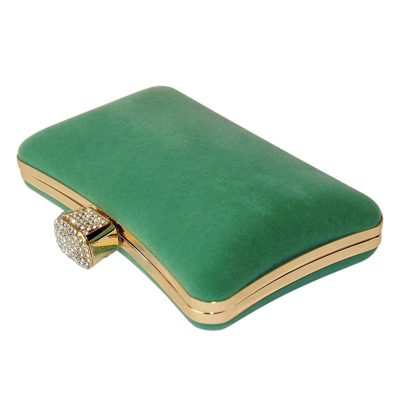 Fashion Road Women Small Green Chain Clutch Handbags
