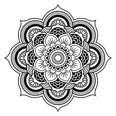 Amazon.com: Mandala calcomanía de pared estudio de yoga ...