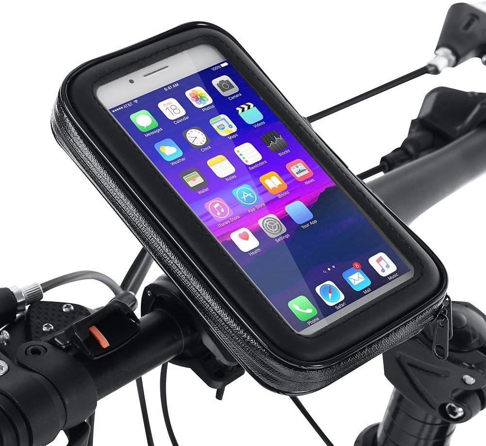Tbest Bike Moto Support de Montage sur Guidon /Étui de Sac /étanche Accessoire pour t/él/éphone GPS Noir Taille facultative: L, XL