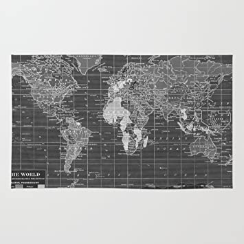 Amazon society6 black and white vintage world map rug 4 x 6 society6 black and white vintage world map rug 4 gumiabroncs Image collections
