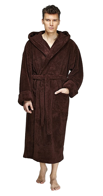 a74aa0c961 Arus Men s Hooded Fleece Bathrobe Turkish Soft Plush Robe at Amazon Men s  Clothing store