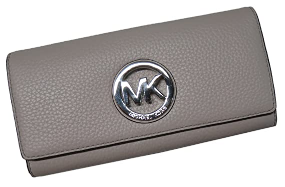 e66fe2f685db Michael Kors Fulton Flap Continental Leather Wallet Cement Grey  Amazon.co. uk  Clothing