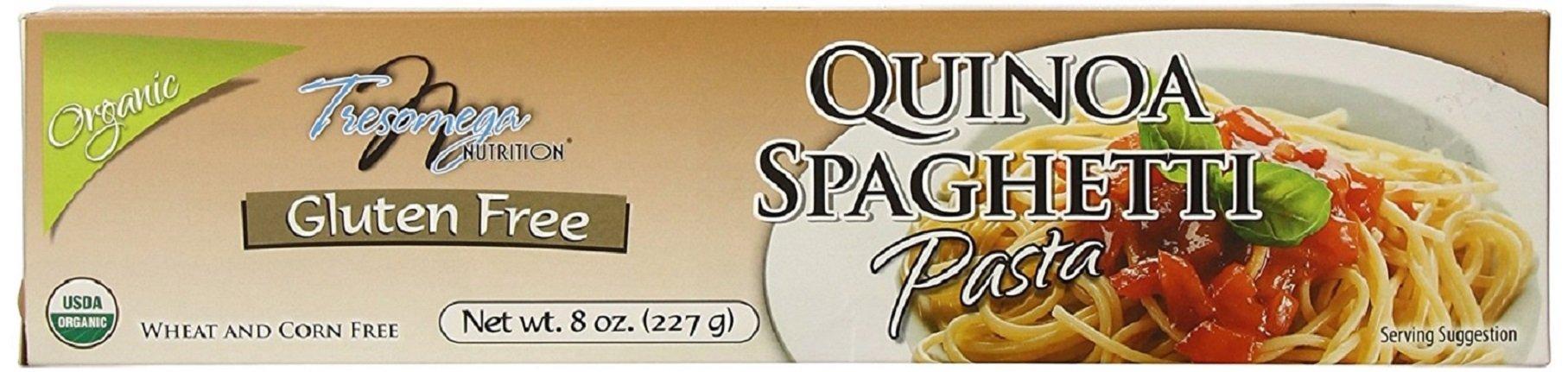 Tresomega Organic Gluten Free Quinoa Spaghetti Pasta, 8 Ounce