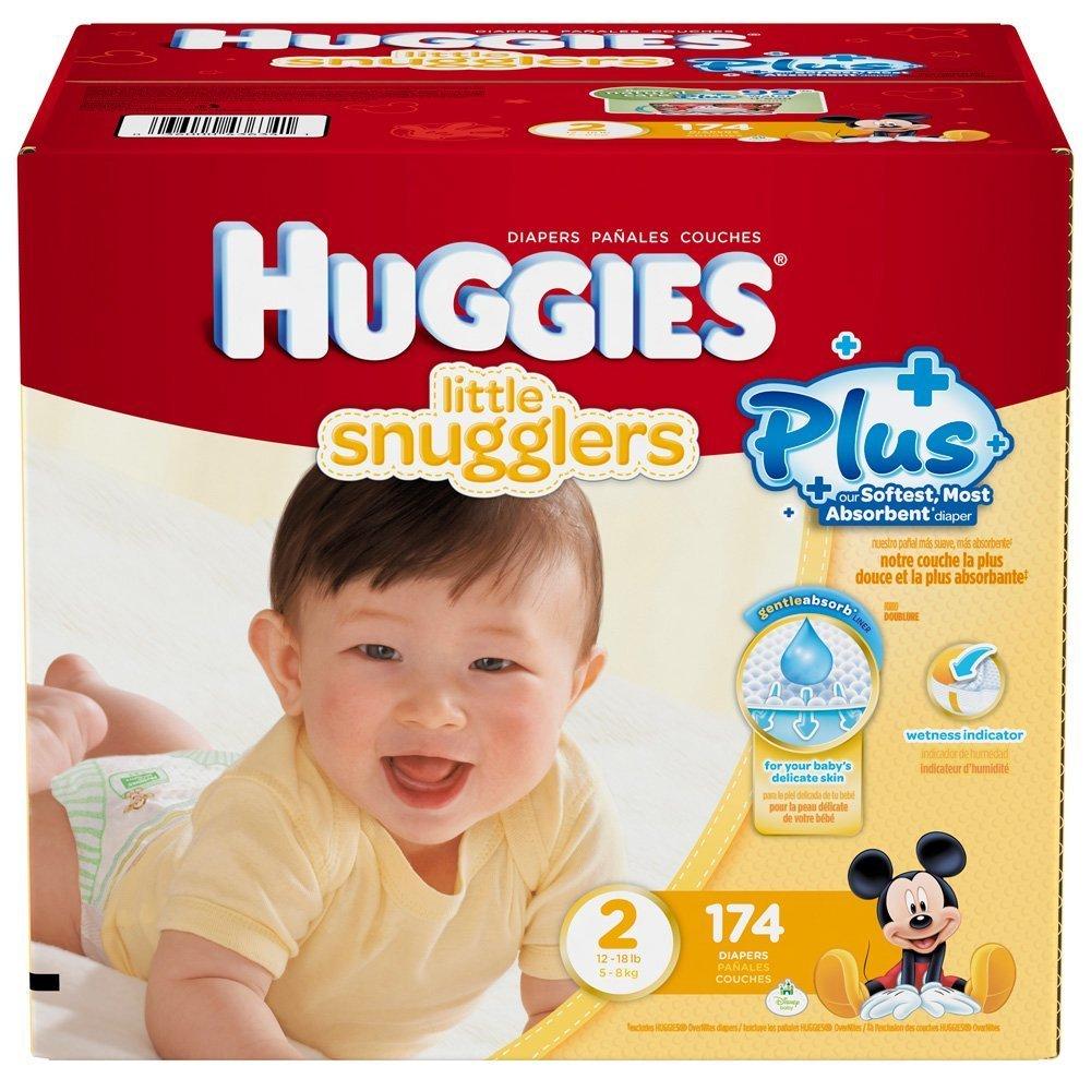 Huggies Little Snugglers Plus Boî te de 174 couches Taille 2
