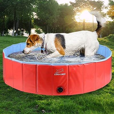 EXPAWLORER Foldable Dog Swimming Pool