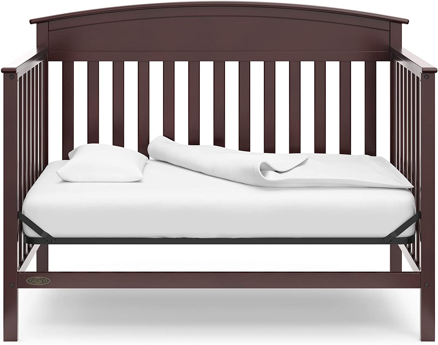 Espresso 3-Position Adjustable Mattress Support Base Graco Benton 4-in-1 Convertible Crib Easily Converts to Toddler Bed Daybed or Full-Size Bed with Headboard