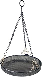 "Gardman BA01017 Hanging Bird Feeder Tray, Black, 9.40"" Wide x 20.3"" High"