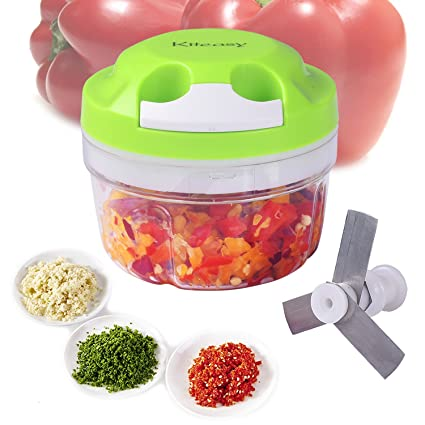 Vegetable Chopper, Kiteasy Quick Pull Manual Food Chopper Mini Food  processor for Fruits, Veggies, Garlics, Onion, Green 300ml