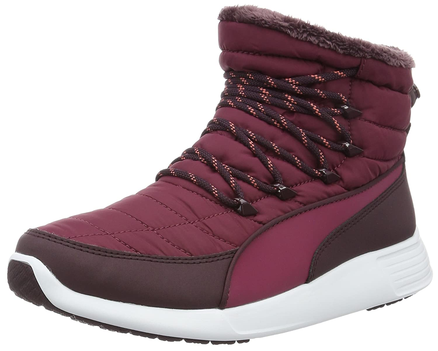 Puma Damen St Winter Boot Schneestiefel  38.5 EU|Rot (Red Plum-red Plum 02)