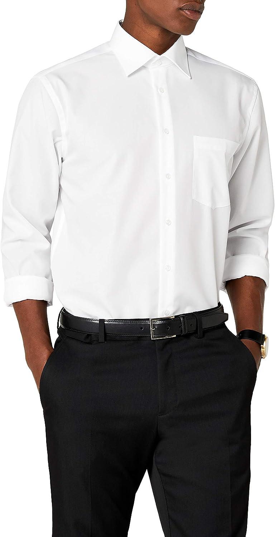 Seidensticker Camicia Business Tailored Fit da Uomo con Collo Kent a maniche lunghe
