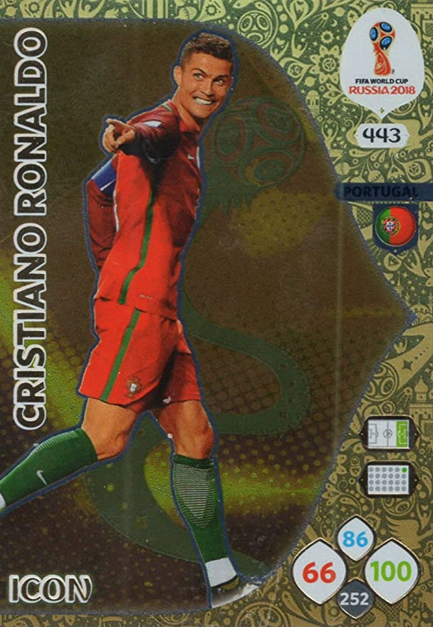ADRENALYN XL FIFA WORLD CUP 2018 RUSSIA - CRISTIANO RONALDO ICON TRADING  CARD - PORTUGAL  443  Amazon.co.uk  Sports   Outdoors f26ee59ea