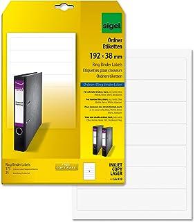Sigel LA410 Etiquetas para archivadores (Ink/Laser/Copy), 192x38 mm (