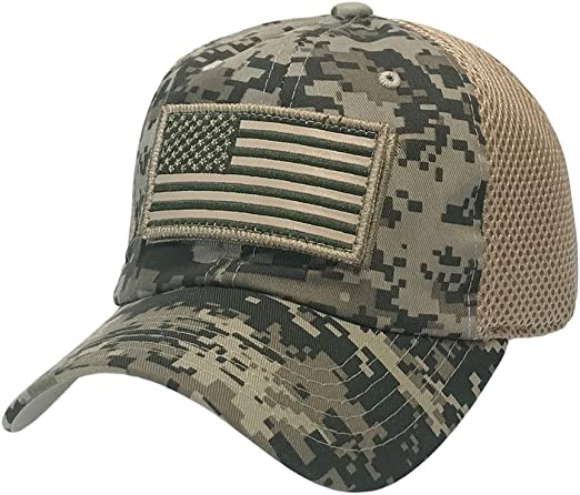 TACTICAL MILITARY FORCE OPERATOR AMERICA DETACHABLE PATCH USA FLAG DAD CAP HAT