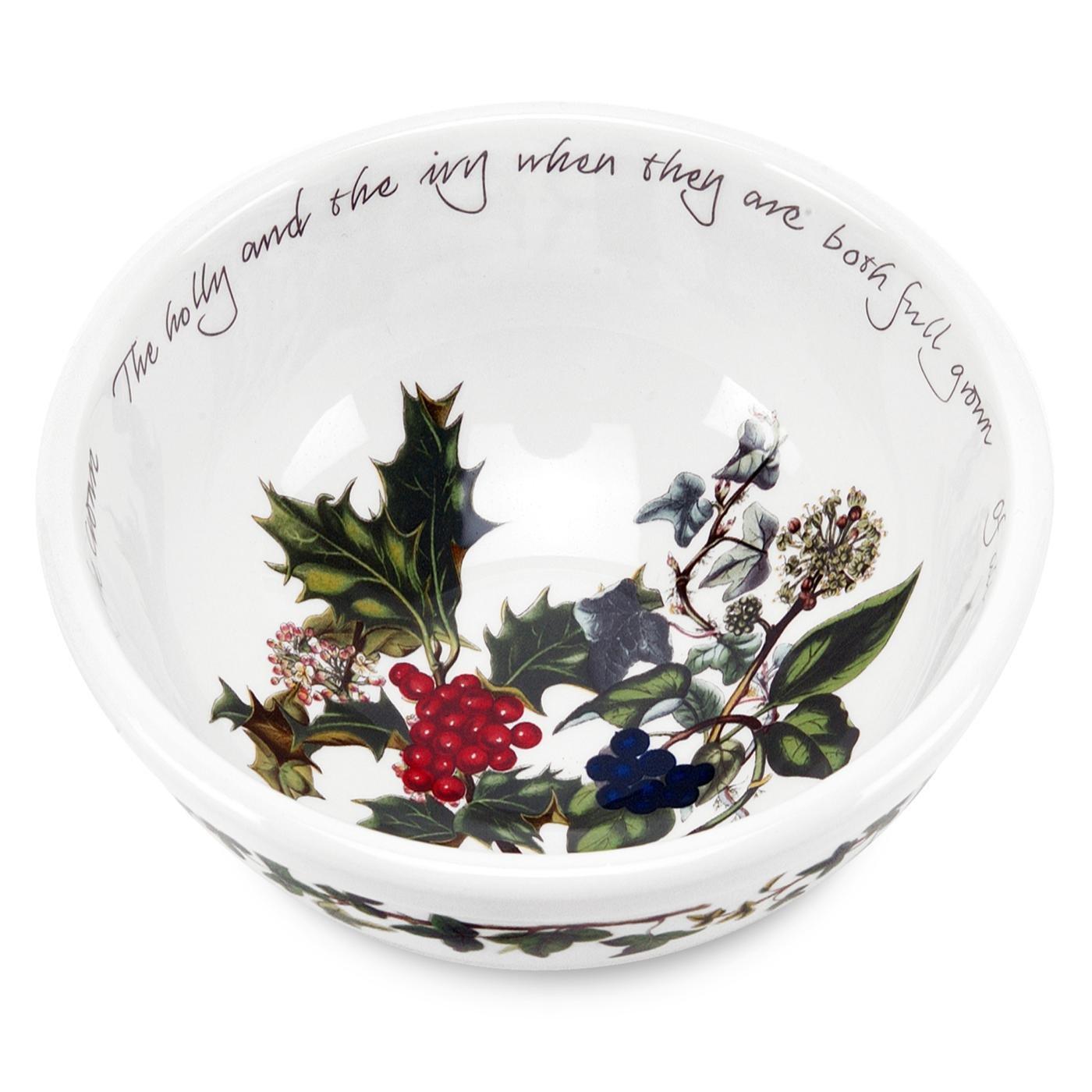 Christmas Holly Dessert Bowls