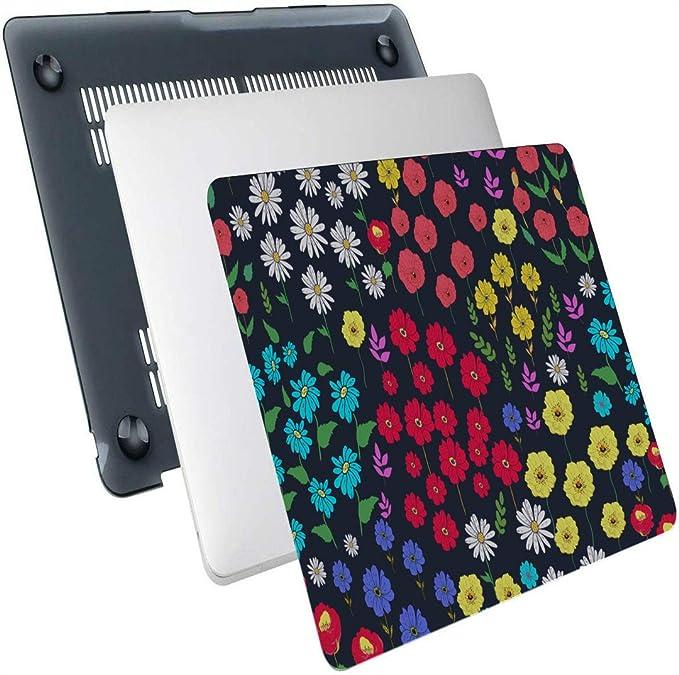 Macbook Air Cases Art Rose Daisy Acuarela Pintura Plastic Hard Shell Compatible Mac Laptop Hard Case Protección Accesorios para Macbook con Alfombrilla de ratón: Amazon.es: Electrónica