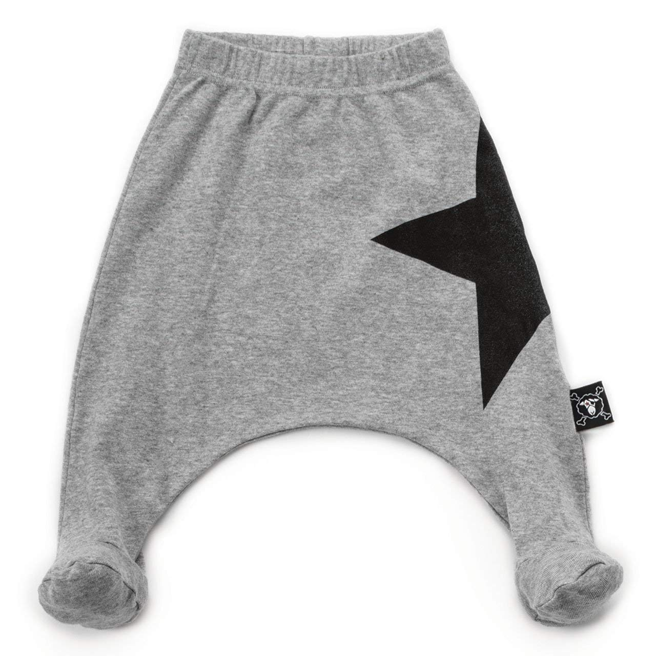 Baby Star Footed Baggy Pants Gray NUNUNU