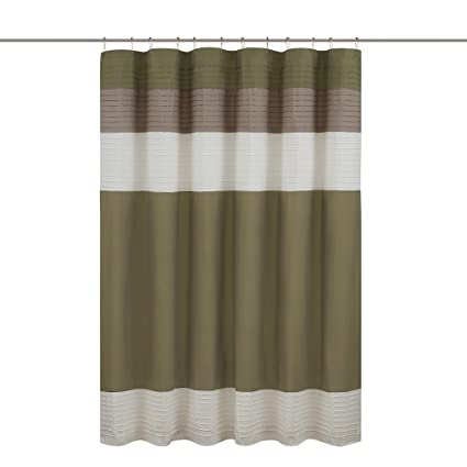 Superbe Comfort Spaces U2013Windsor Shower Curtain U2013 Khaki   Brown U2013 Panel Design    72x72 Inches