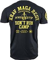 Krav Maga T-shirt. Thumbs Down. Don't Run Camp. Israel System Of Self Defense and Fighting Skills. MMA T-shirt