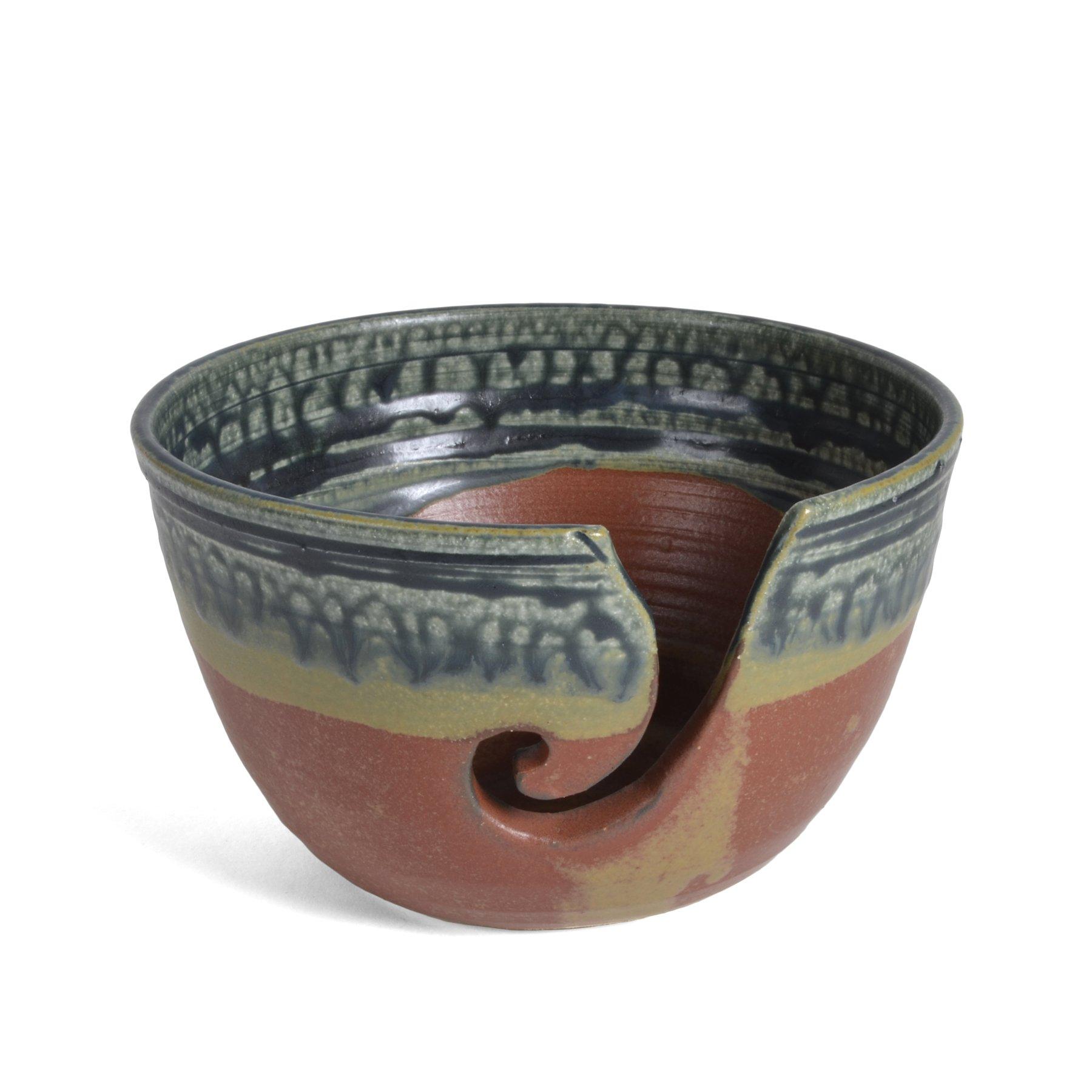 Holman Pottery Yarn Bowl, Desert Glaze