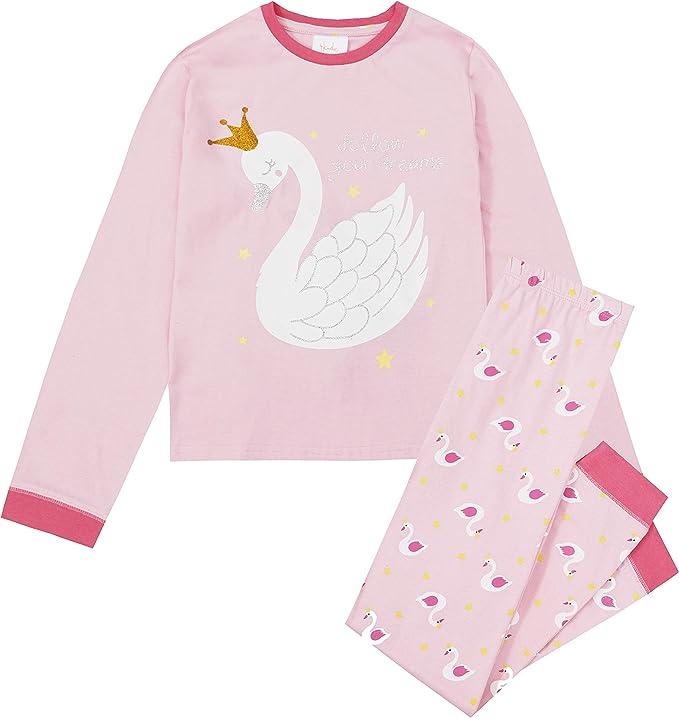 Pijama de Cisne de algodón Rosa para niños/niñas Rosa Rosa 13 años ...