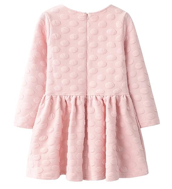 6fc9b12bc Amazon.com  AuroraBaby Little Big Girls Casual Thick Warm Dresses ...